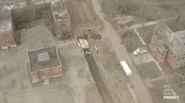 Drone video shows inmates digging mass burial graves on New York's Hart Island