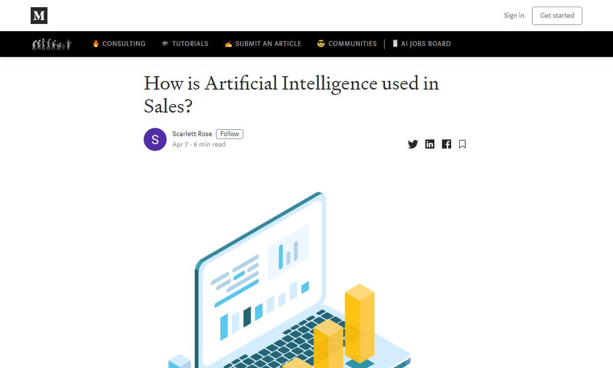How is Artificial Intelligence used in Sales? #businesses #predictiveforecasting #sales #performance #salesteam #chatbot via http://becominghuman.ai ☛ http://amp.gs/KBIepic.twitter.com/UbIQYBabXr