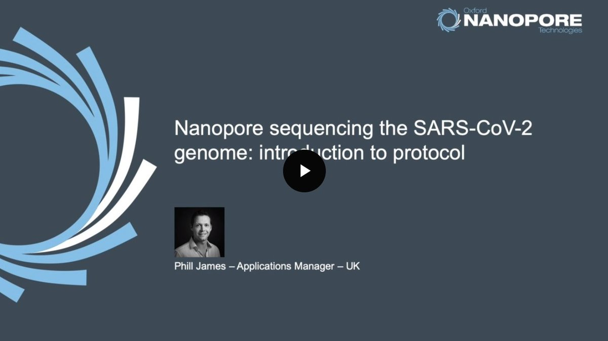 Informative introductory webinar on the laboratory protocol for @nanopore sequencing of the #SARSCoV19 genome.