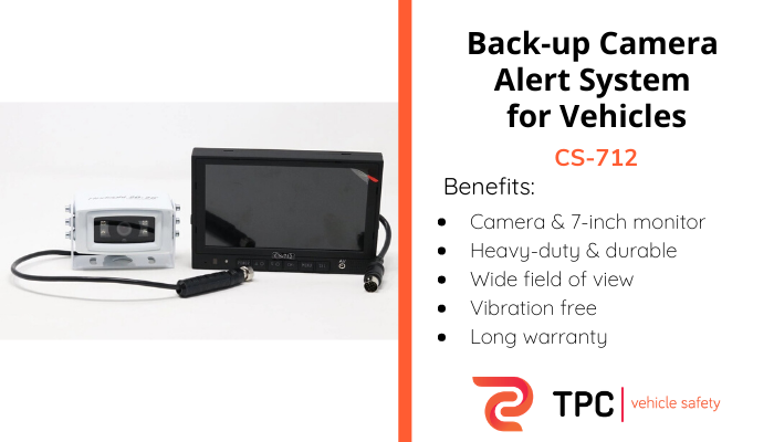 CS-712 is a back-up camera alert system for vehicles in Classes 3 through 13. It gives drivers the ability to safely see what is in their path when reversing.   #vehiclesafety #tpcautomation #transportation #sales #production #automation #innovation #truckdrivers