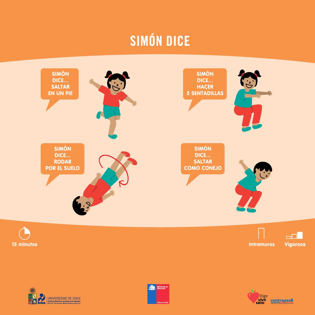 """Hoy en #JuegosActivos les compartimos un clásico: """"Simón dice"""", el cual también es parte de esta serie de dinámicas de 15 minutos elaborada para profesores pero que, ante la contingencia, pueden ser aplicadas con sus niños y niñas para estar activos en casa. #CuidémonosEntreTodospic.twitter.com/EHOypLilud"""