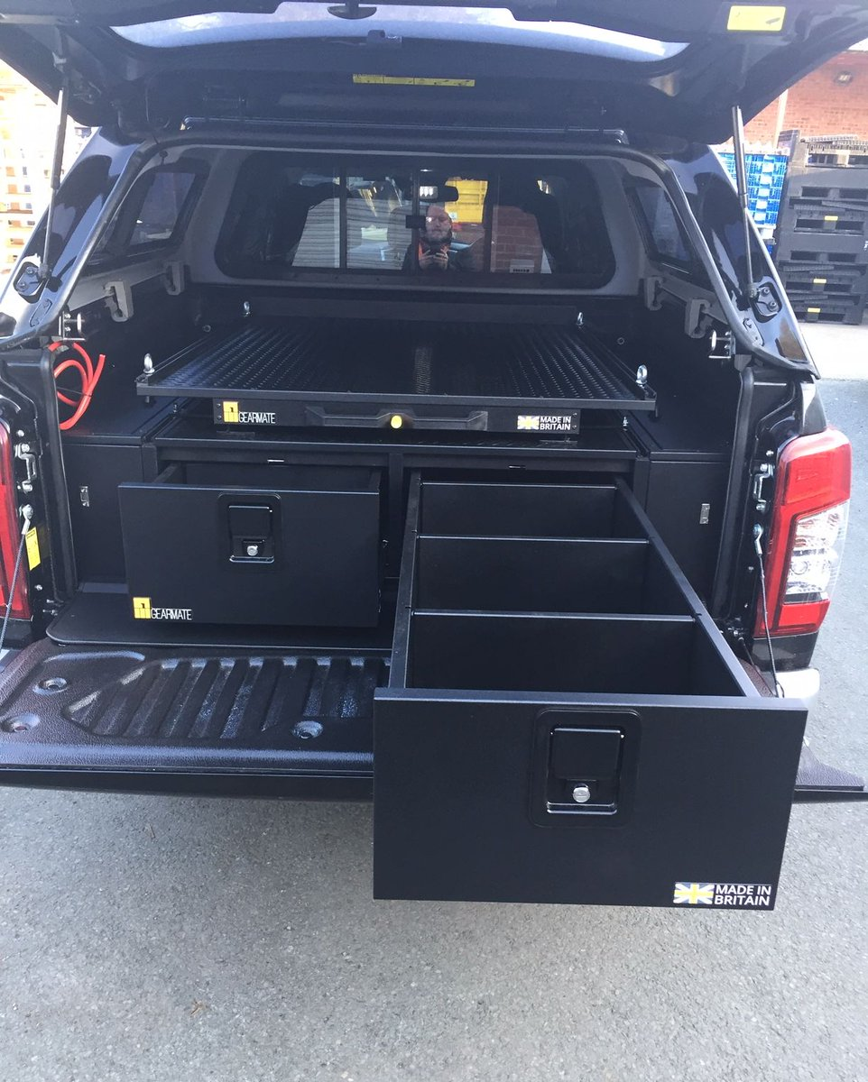 #Gearmate drawers are designed to be though! Offering up to 150 Kg capacity per drawer   Give us a call at 01789595200 or visit http://www.gearmate.co.uk *Finance solutions available* #madeinbritain #loadedforlife #4x4 #offroad #pickupaccessories #pickuptruckdrawers #pickuptruckpic.twitter.com/rOeluZ5dHo