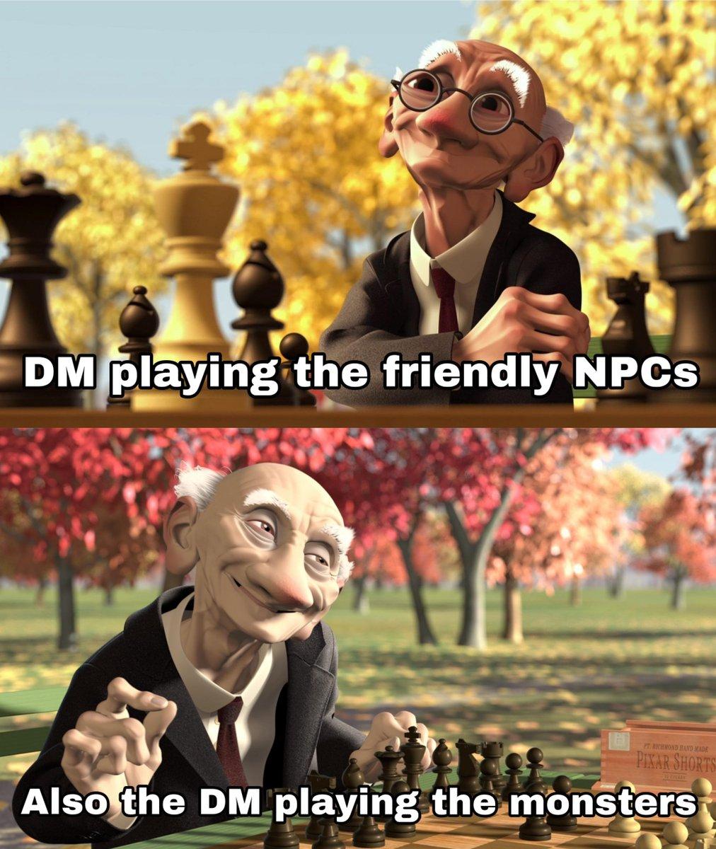 Ah, the duality of man  #dnd  #gamenight #dndminiatures #dnd5e  #funny  #follow  #clericpic.twitter.com/nxagmgxnCz