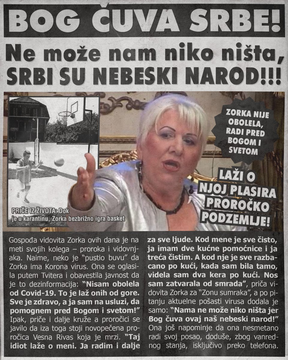 Bog čuva Srbe jer su nebeski narod