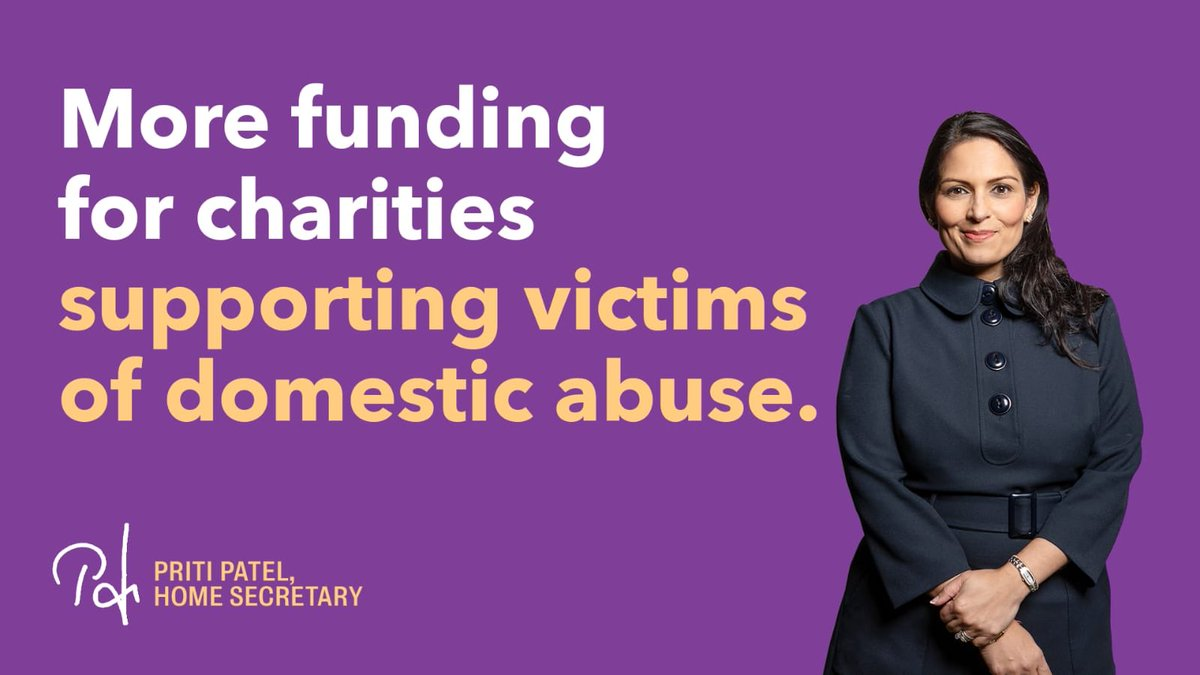 Announcement from @RishiSunak will help ensure this country's remarkable domestic abuse charities can continue to provide vital support to victims. Britain has a huge heart – nobody in our country will face these testing times alone.