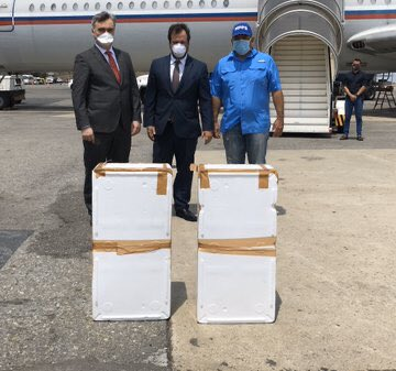 Russian Air Force IL-62 arrived in Caracas with medical aid.  #Venezuela #Russia pic.twitter.com/qqRss2mYEx