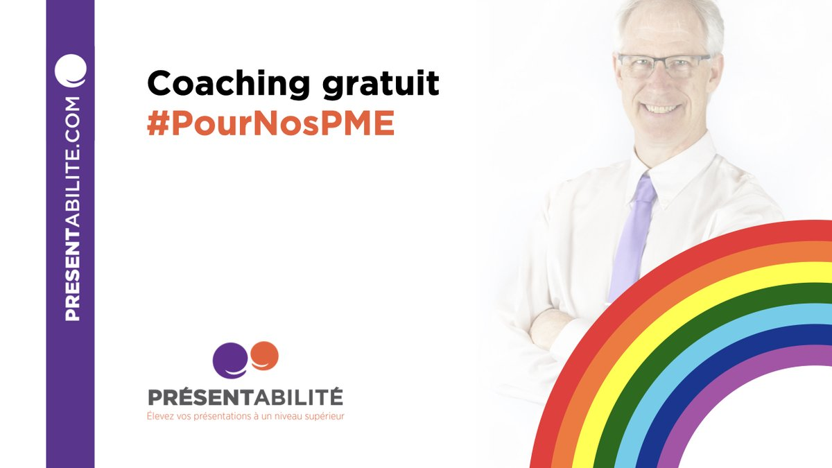 Coaching de présentation gratuit #PourNosPME. Entrepreneur, solopreneur ou startup  Je vous offre un coaching privé gratuit (1 h).   Pour préparer une présentation ou développer vos habiletés.  Infos et réservation : https://presentability.com/fr/coaching-gratuit-pournospme-covid-19/…  #COVID19 #entrepreneuriatpic.twitter.com/xn2sqyEMdO