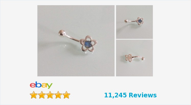 925 Sterling Silver & Surgical Steel Flower Belly Bar set with an Opal Triplet | eBay #sterlingsilver #surgicalsteel #opaltriplet #flower #bellybar #bodyjewelry #piercings #handmade #jewellery #accessories #fashion #beauty #jewelry #gifts #giftideas