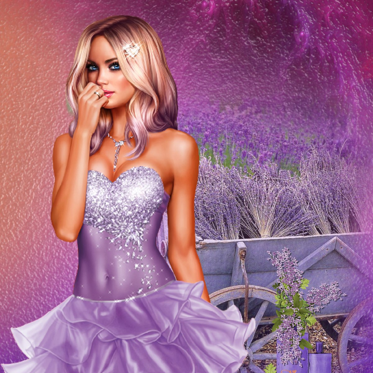Lavender-garden by Freethinker56 | Celebrate #3dart fashion at