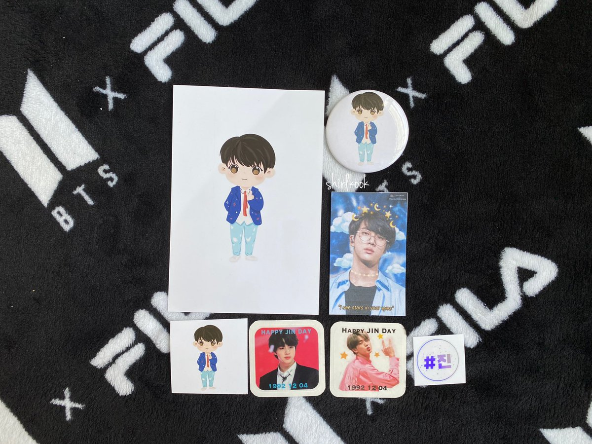 Jin Giveaway 🐹 Photos, Stickers & Pin 💫 Rules - Follow, Like & Retweet - Tag a friend/mutual & tell me your favorite Jin solo song - 🇺🇸 Only Ends Friday 4/10 @ 9 pm EST @BTS_twt