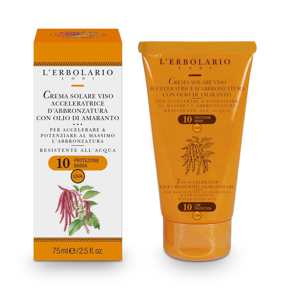 Il prodotto di oggi è Sole e Aria Aperta - Crema Solare Viso Acceleratrice d'abbronzatura all'Olio di Amaranto SPF 10. Visita il nostro negozio online: . 🌿 #natura #bio #erboristeria Posted via SumAll