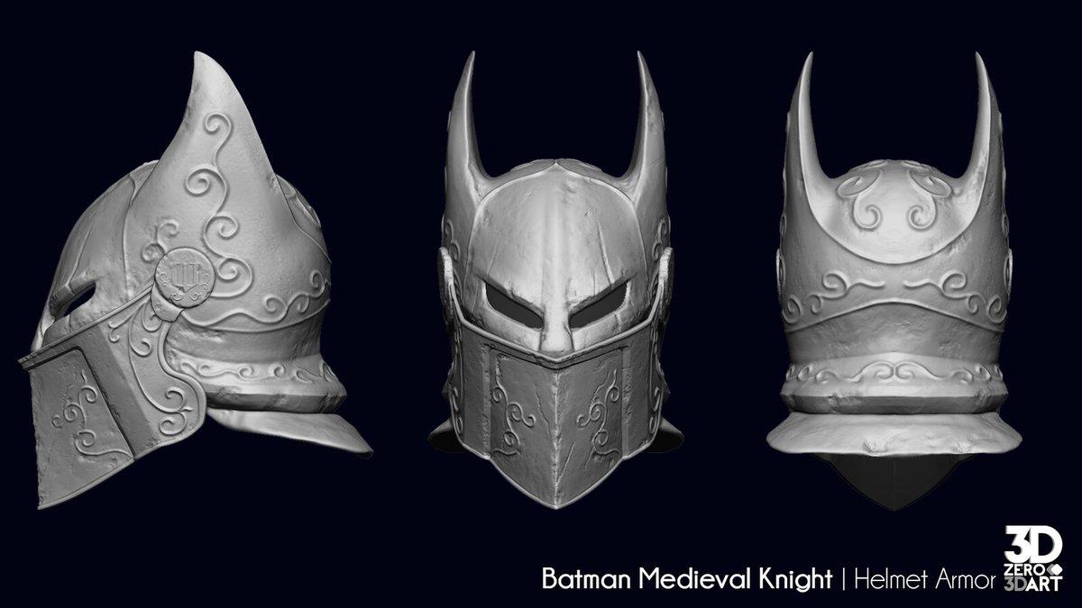 "An update of my last ""wip"" project. Batman Medieval Knight. #artstation #Batman #3dArt #CharacterDesign #GameReady"