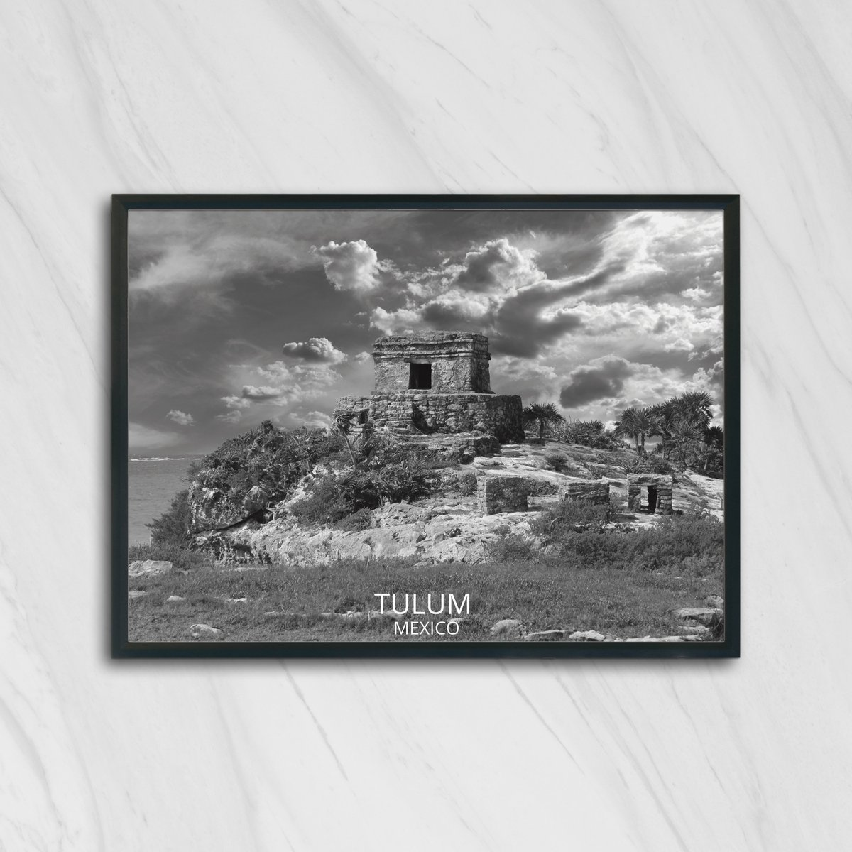 Excited to share the latest addition to my #etsy shop: Tulum art, mayan ruins, mayan designs, tulum decor, tulum print, tulum poster, mayan wall art, mayan decor, mayan art, mayan aztec,  #art #drawing #black #moving #christmas #white #horizontal
