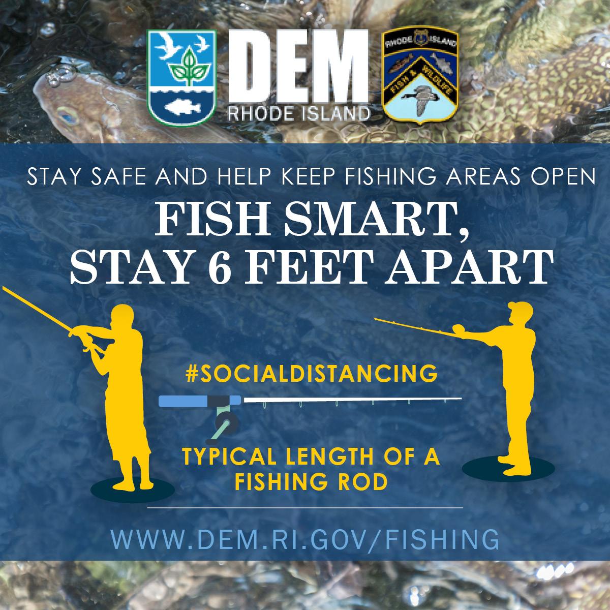 Fish smart. Stay 6 feet apart.