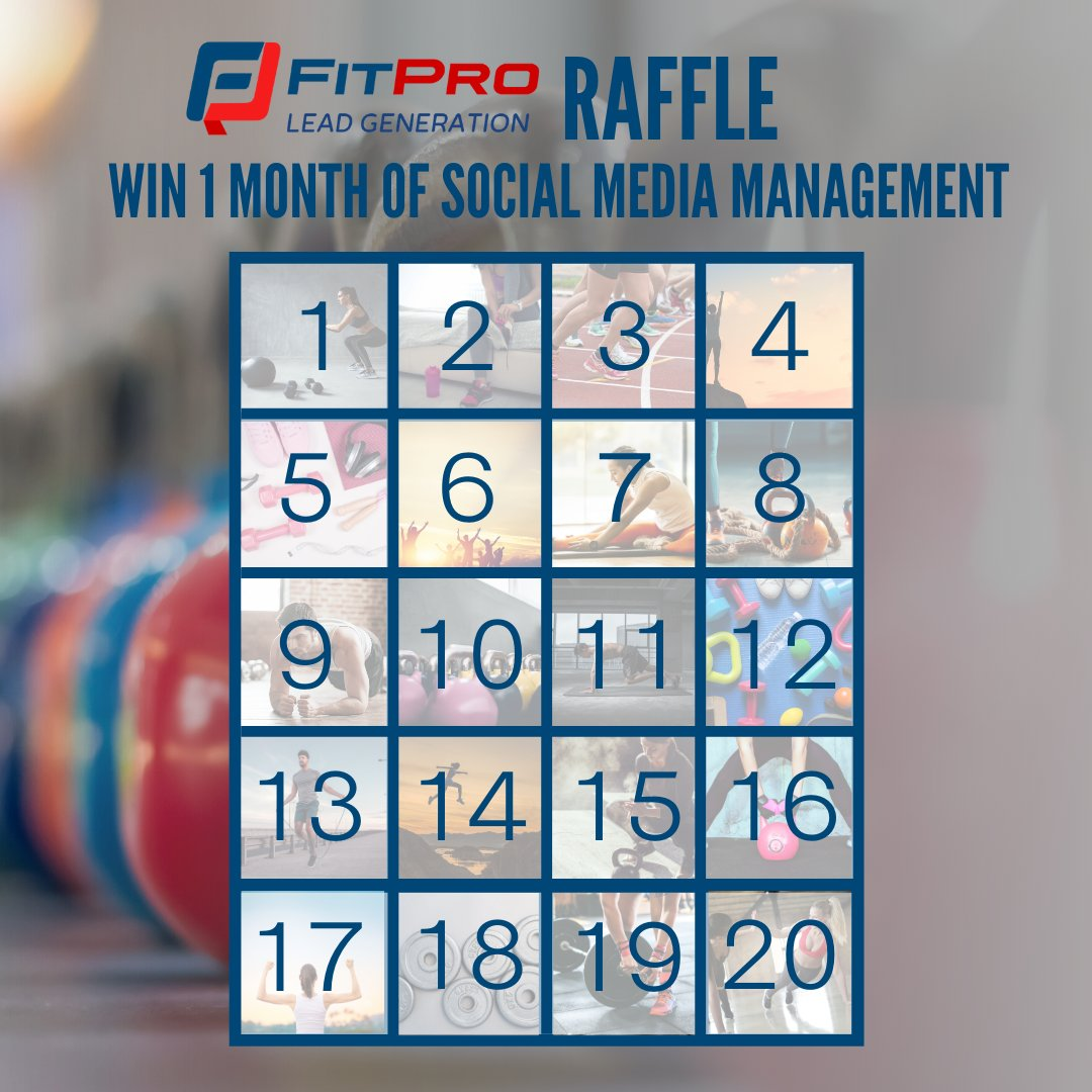 RAFFLE TIME! £5 a number to be in with a chance of winning 1 month of social media management. Message us ASAP to secure your number. Good luck! Elsie :)   #fitpro, #personaltrainer, #fitnessmarketing, #fitnessbusiness, #personaltrainermarketing, #fitnessbusinessmarketing,pic.twitter.com/4TYsJMBAAA