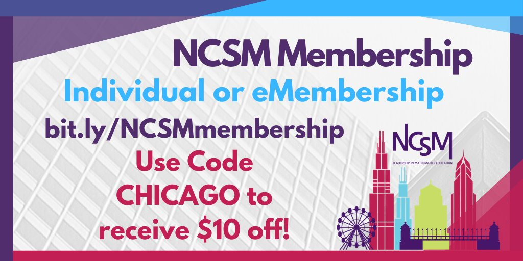 Get the NCSM membership discount while it lasts!!! #NCSM20 #NCSMbold @MathEdLeaders