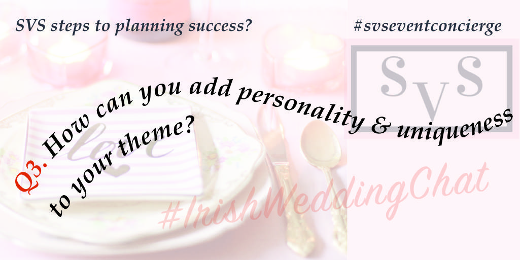 q3 how can you add personality and uniqueness to your theme?