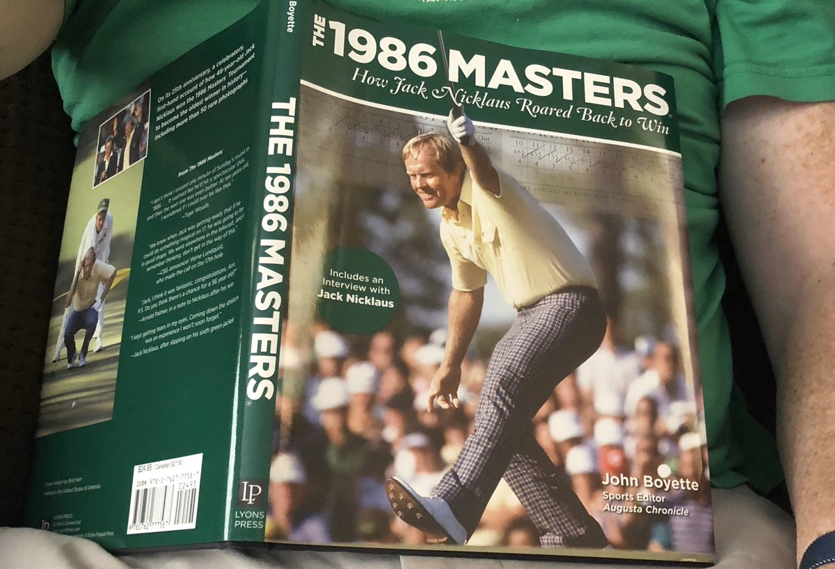 @johnboyette I'm reading my favorite book about the 1986 #Mastera this afternoon. So far, so good. Looks like that Nicklaus kid might have a chance to win the tournament. #maybe #yessir