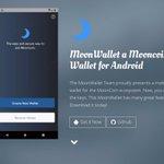 Image for the Tweet beginning: MoonWallet - Mooncoin SPV client