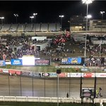 Good Night from Knoxville!   Thanks to @NosEnergyDrink @WorldofOutlaws @iRacing @FS1 @JeffGordonWeb @ClintBowyer @Gibvoice and everyone involved for bringing us the show! That was FUN!   #RacingTogether #WoOiRacing