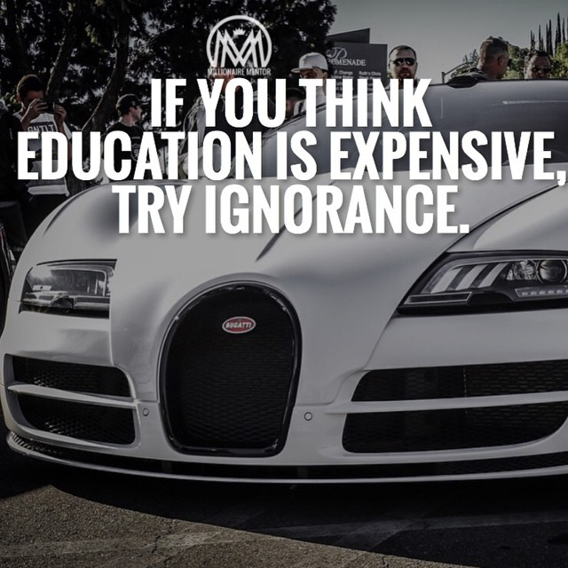 """""""If you think education is expensive, try ignorance."""" - Jeff Rich #IQRTG pic.twitter.com/k6VCmmSUg2"""
