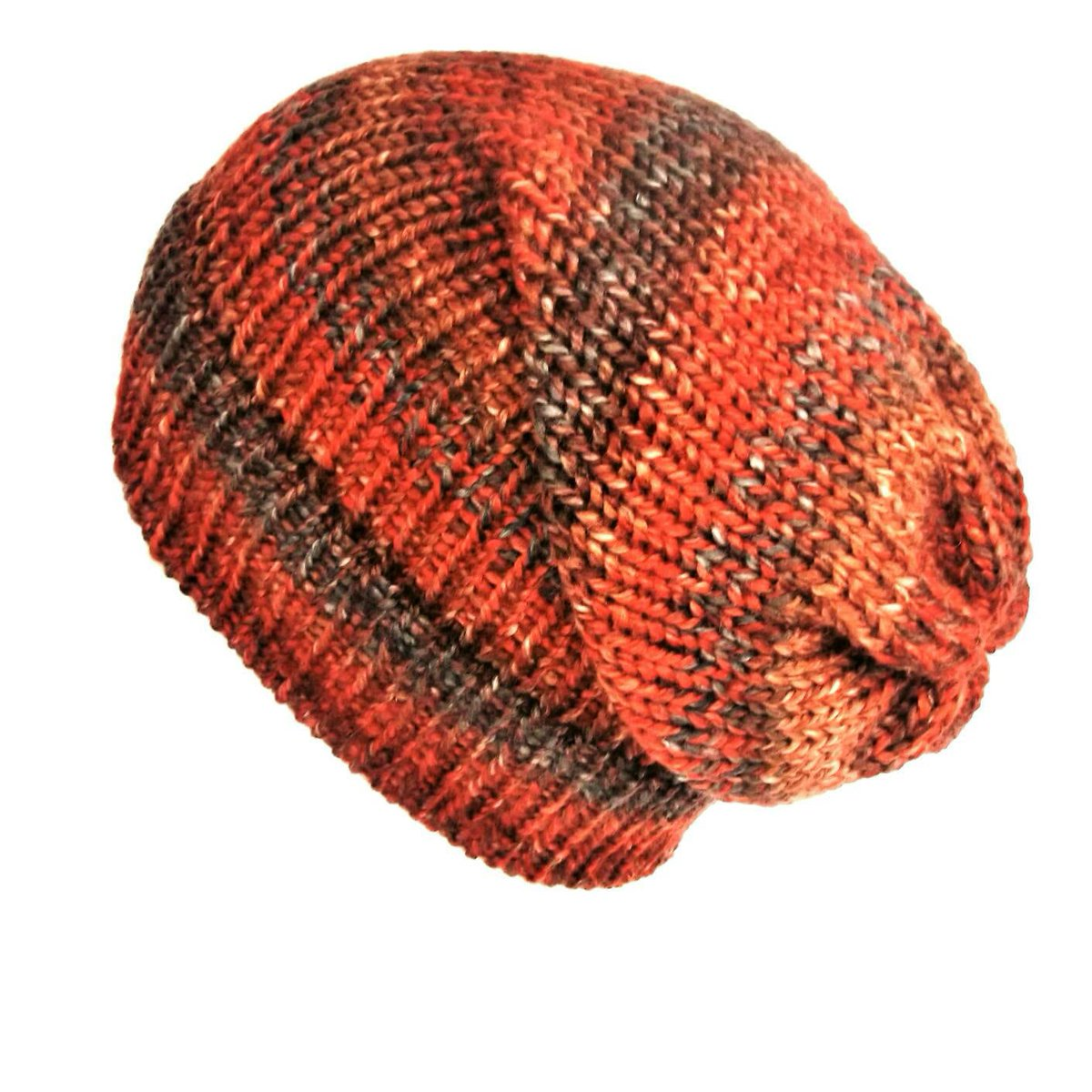 Burnt orange beanie, winter slouchy hat, soft vegan wool hat women slouchy beanie, unique knit hat, fits adults & teens, 90s grunge  #Knittedhats #Lelsloom #Shopping #Etsy #Vegan #Veganfashion #Grunge #Handmadehour #SlouchyBeanie