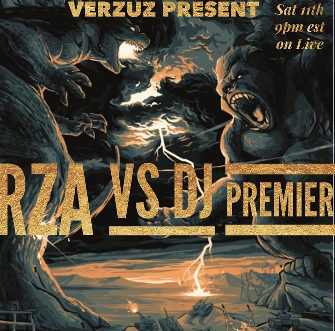 WOW!!!! 😳😳😳😳 @RZA vs @REALDJPREMIER this Saturday! 🔥🔥🔥