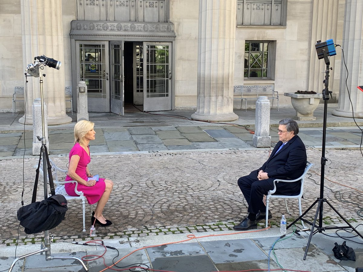 Tonight my EXCLUSIVE interview with AG Bill Barr.  Are our civil liberties safe during this pandemic? Tune in at 10pET.  @FoxNewspic.twitter.com/PR7zkpzD6i