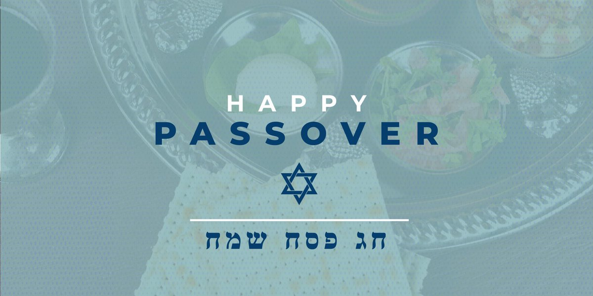 While families and friends may not be able to physically gather this year, faith will always be an important part of how we come together.    Brooke and I wish everyone celebrating a Happy Passover.