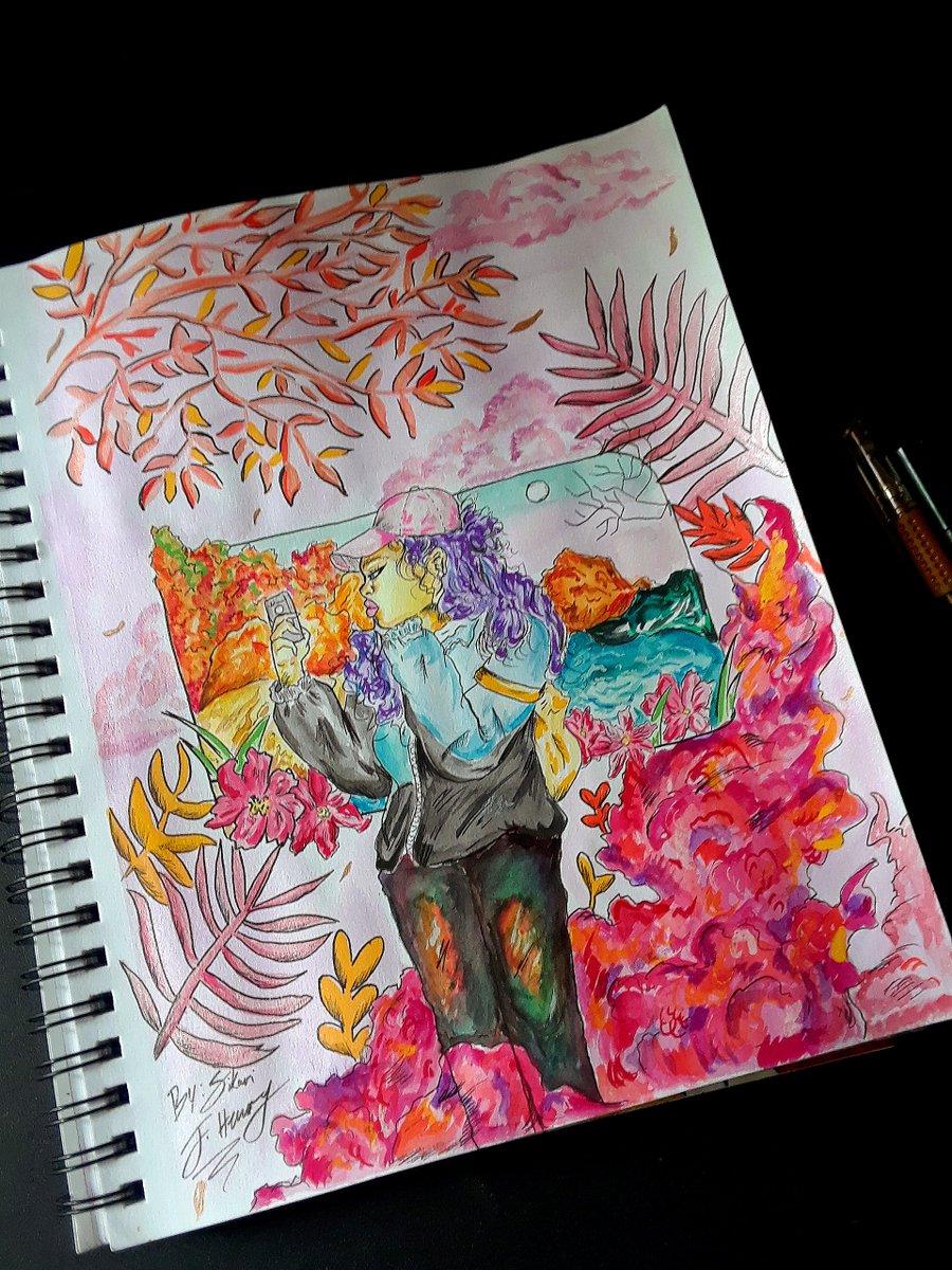 .  .  .  #blackanime #mangastyle  #artofdrawing #inkdrawing #watercolorpainting #watercolorart #illustration #freelanceillustrator #conceptart #afroart #blackartist #conceptdesign #visualdevelopment #characterart #illustration #coloredsketch #backgroundpaintingpic.twitter.com/oy56CG5Jsw