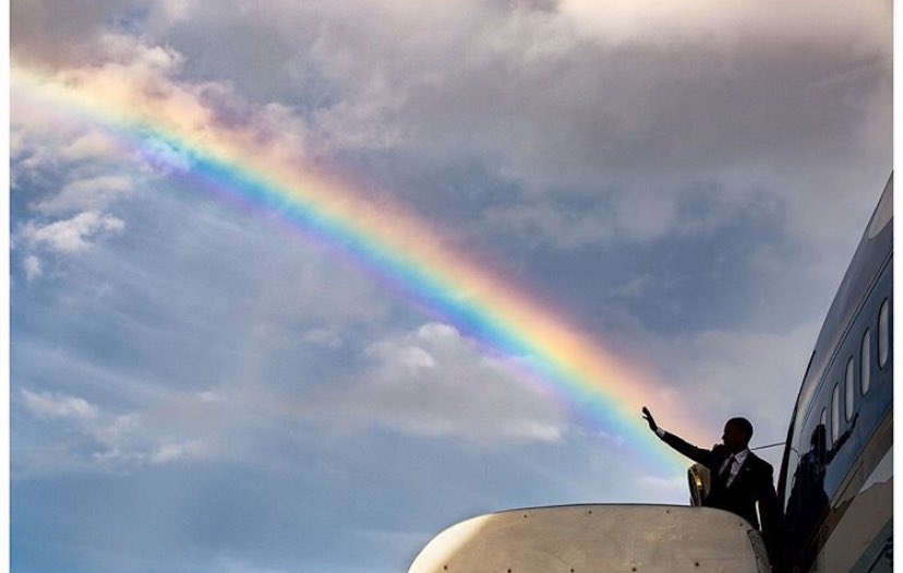 God put rainbows in the clouds so that each of us, in the dreariest and most dreaded moments, can see a possibility of hope.  Maya Angelou #WeMissYourLeadershippic.twitter.com/7tVK4tEnoS