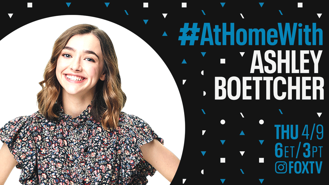 Grab a comfy sweater and join the fun #AtHomeWith @BoettcherAshley from @OutmatchedFOX tomorrow! xx