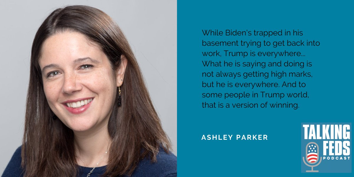 .@AshleyRParker in current @talkingfedspod, with @davidfrum @matthewamiller and me, compares Trump and Bidens political positions, and (along w/ Matt) explains why it may not work fully to Trumps advantage notwithstanding general perceptions. Link at: bit.ly/Quaalude_Corona
