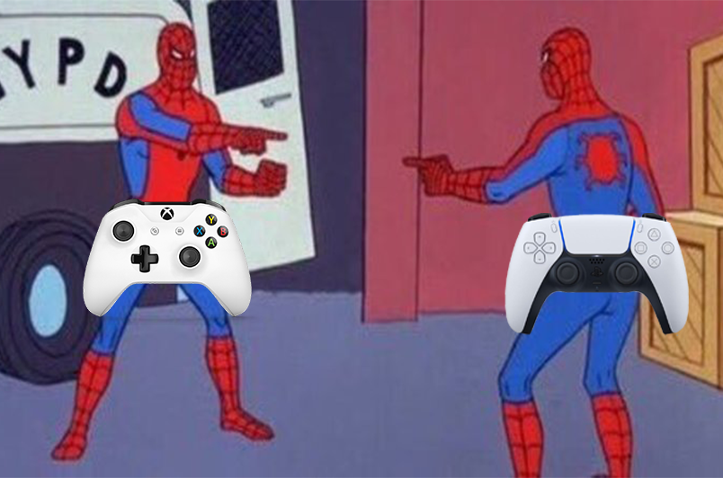 We swear we've seen these PS5 controllers somewhere 🤔