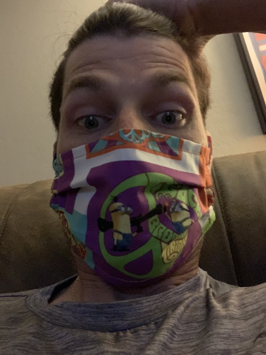 My daughter sewed  me a mask  #awesome pic.twitter.com/cGgmScL2en