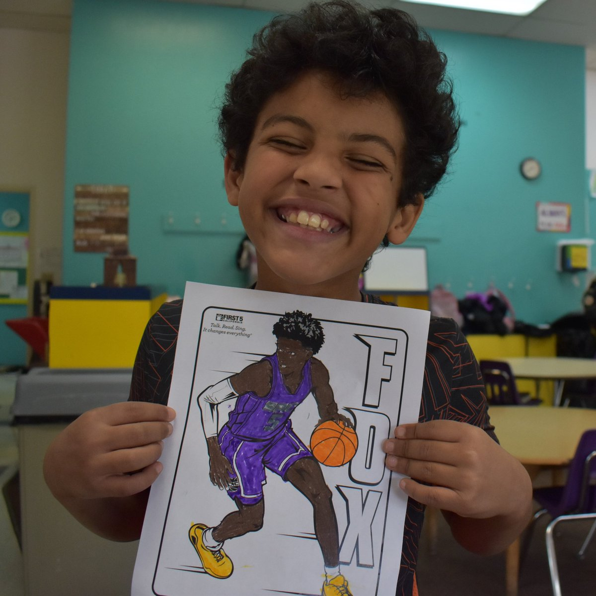 @SacramentoKings @swipathefox The kids at the #SacYMCA Emergency Child Care had fun coloring @swipathefox this week! Luckily we had enough purple to go around! Go @SacramentoKings! #KingsColoringContest https://t.co/fIZtLQqkZF