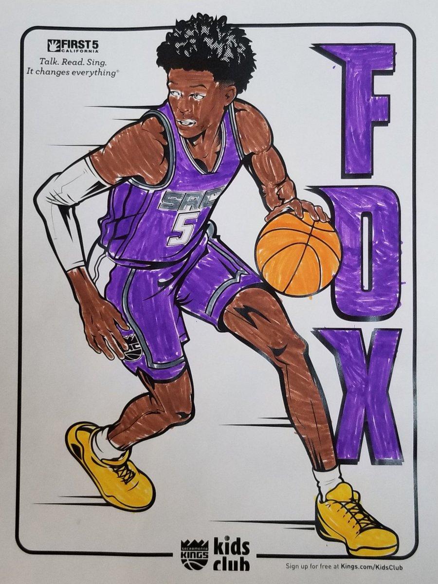 @SacramentoKings @swipathefox The kids at the #SacYMCA Emergency Child Care had fun coloring @swipathefox this week! Luckily we had enough purple to go around! Go @SacramentoKings! #KingsColoringContest https://t.co/FlsjJEmNr6