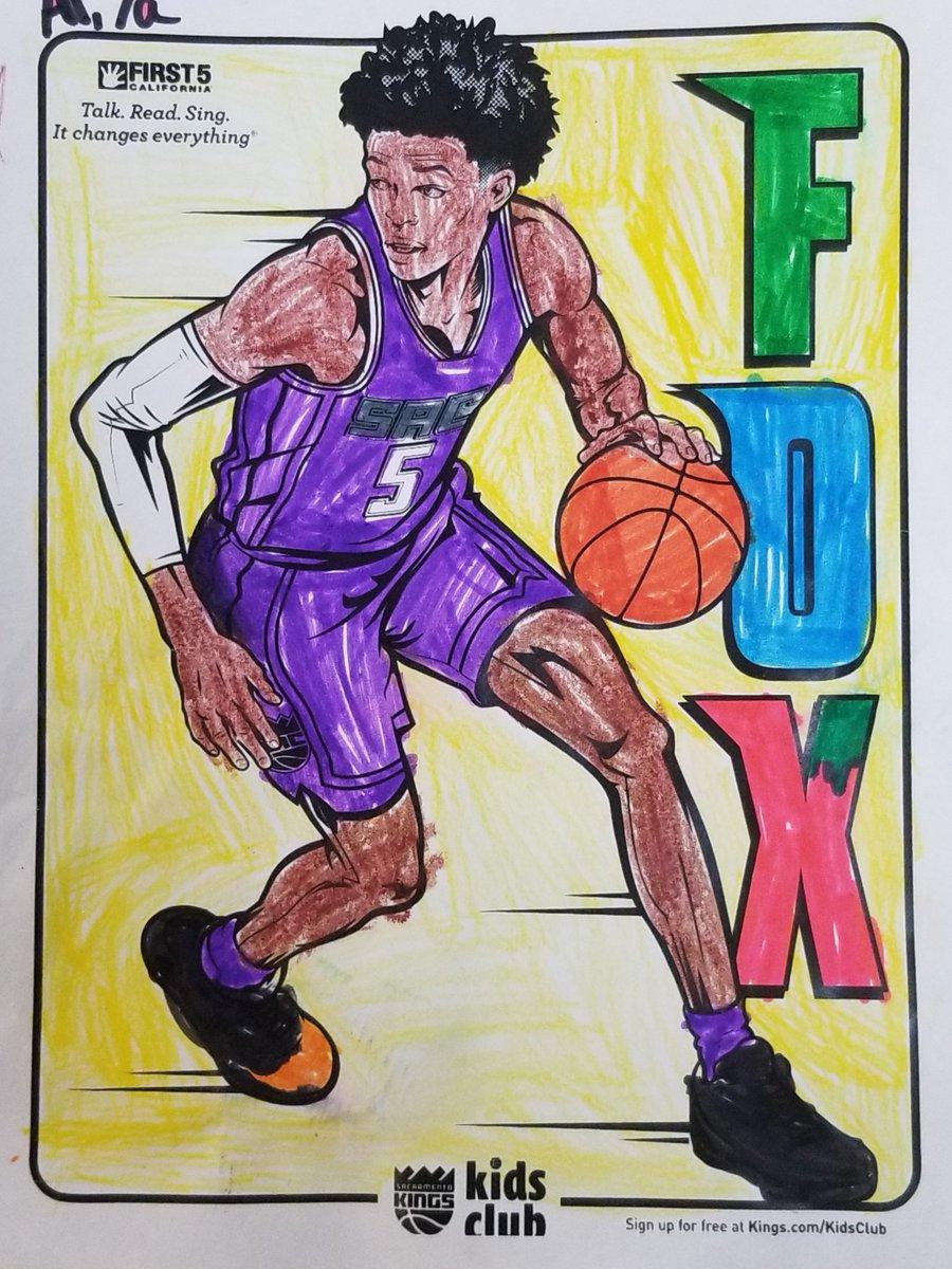 @SacramentoKings @swipathefox The kids at the #SacYMCA Emergency Child Care had fun coloring @swipathefox this week! Luckily we had enough purple to go around! Go @SacramentoKings! #KingsColoringContest https://t.co/iMb9mR8mQI