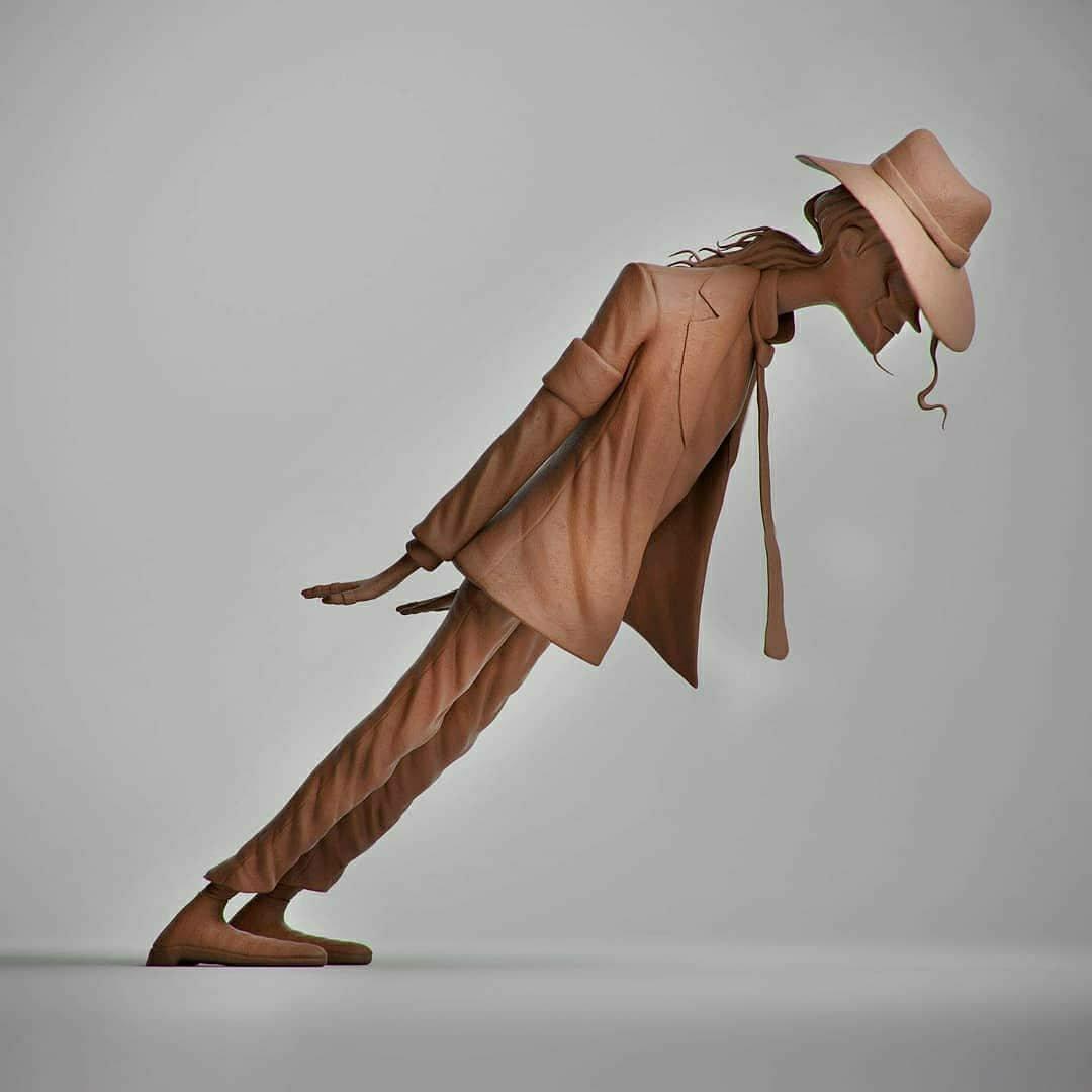 Michael Jackson  Made by @guzzsoares  #3dart #3d #3dmodel