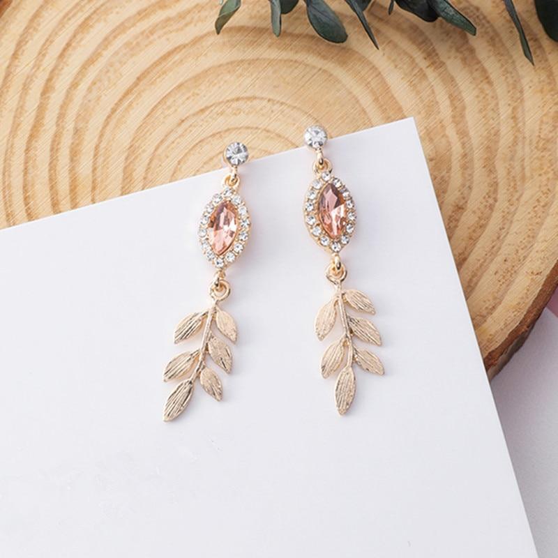 #fashionable #stylish 2018 Shiny Crystal Rhinestone Leaf
