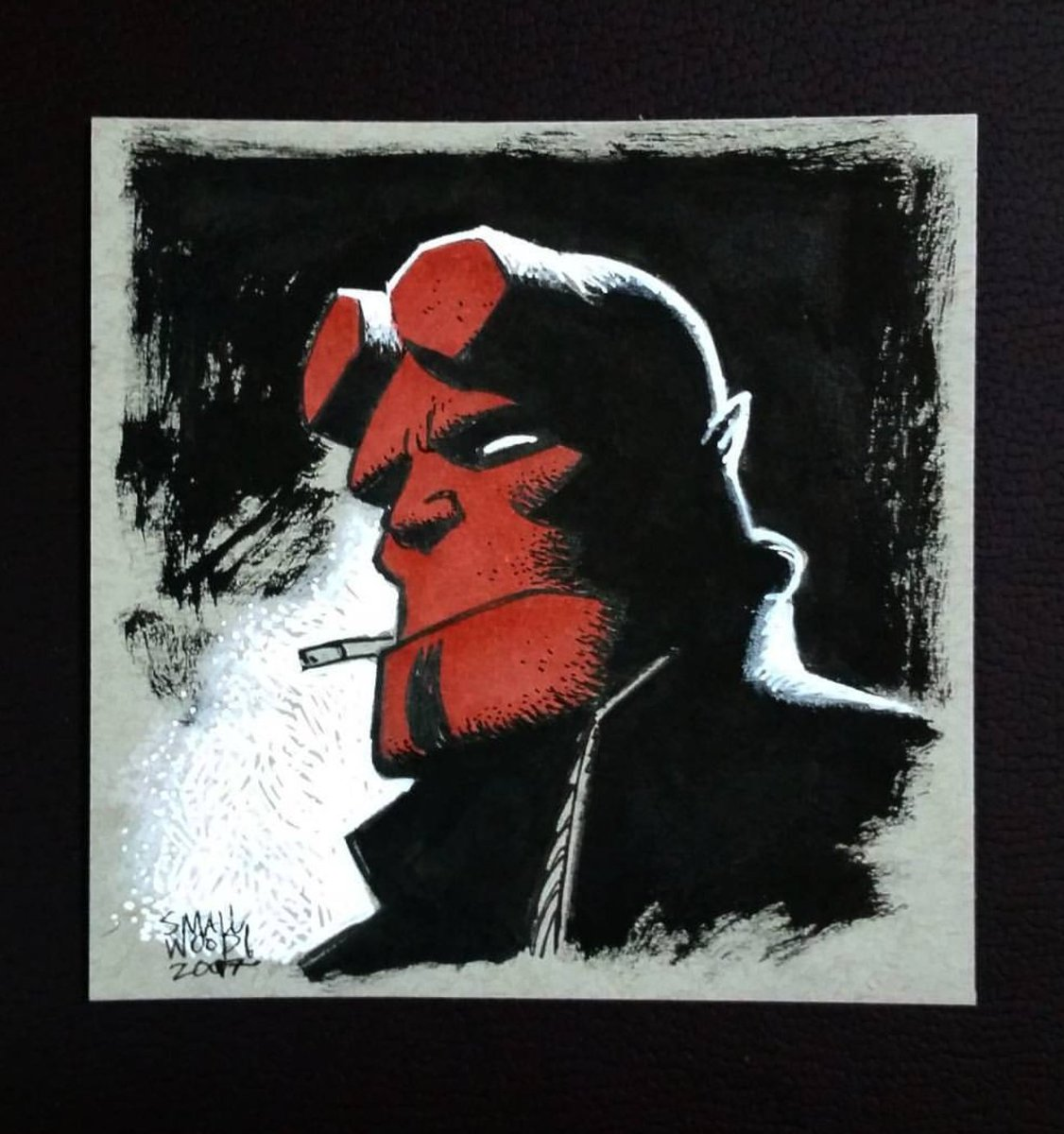 Hellboy sketch by the amazing Greg Smallwood. #artlife pic.twitter.com/dYB4XpRNi3