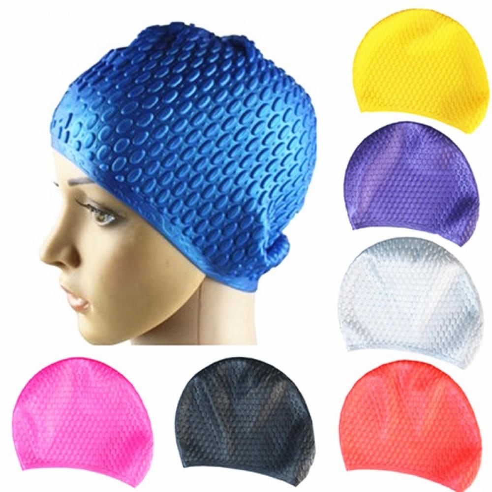 #glam #stylish Waterproof Silicone Swimming Cap