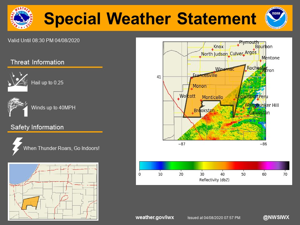 SPECIAL WEATHER STATEMENT...A LINE OF STRONG THUNDERSTORMS ...for more see