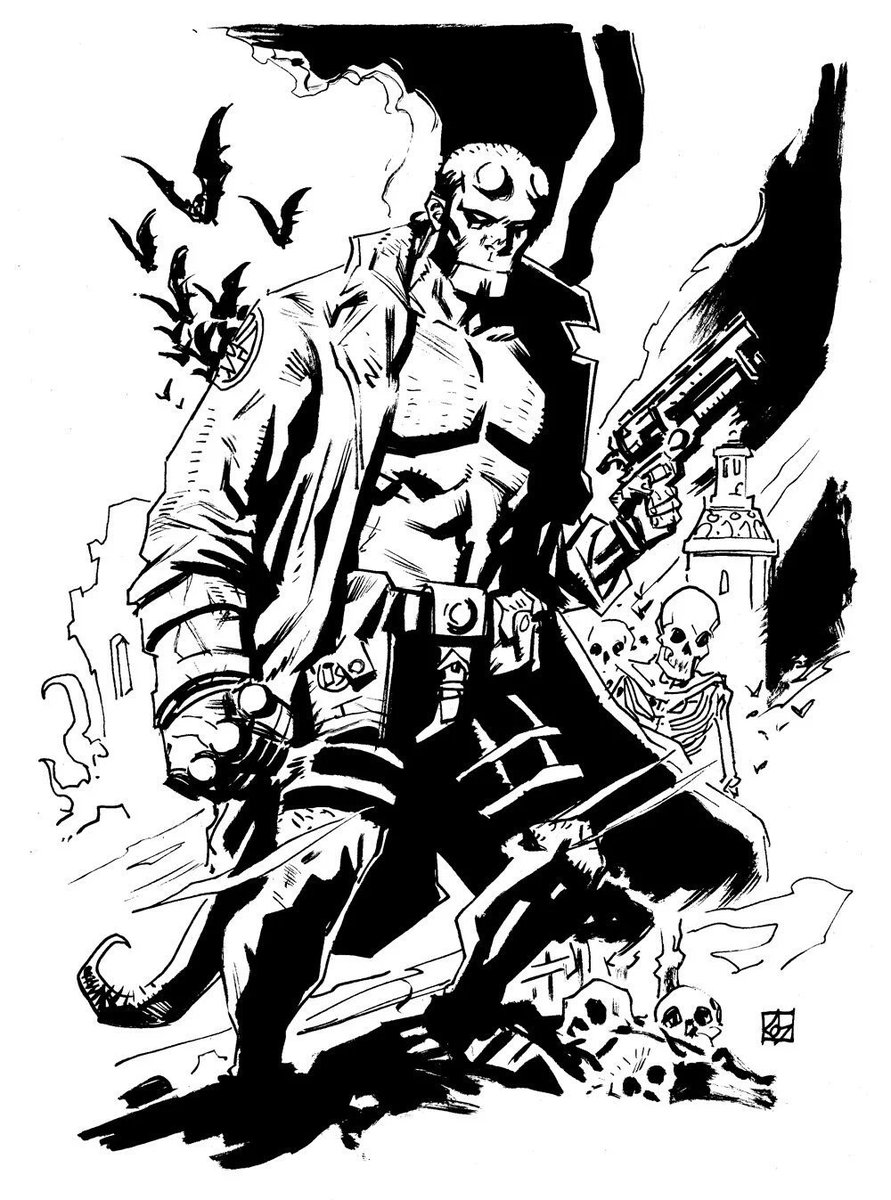 Hellboy sketch by the immensely talented and incredibly kind @deankotz. #nightnurselove #comicspositivity #artlife pic.twitter.com/v9qEUGr5FY