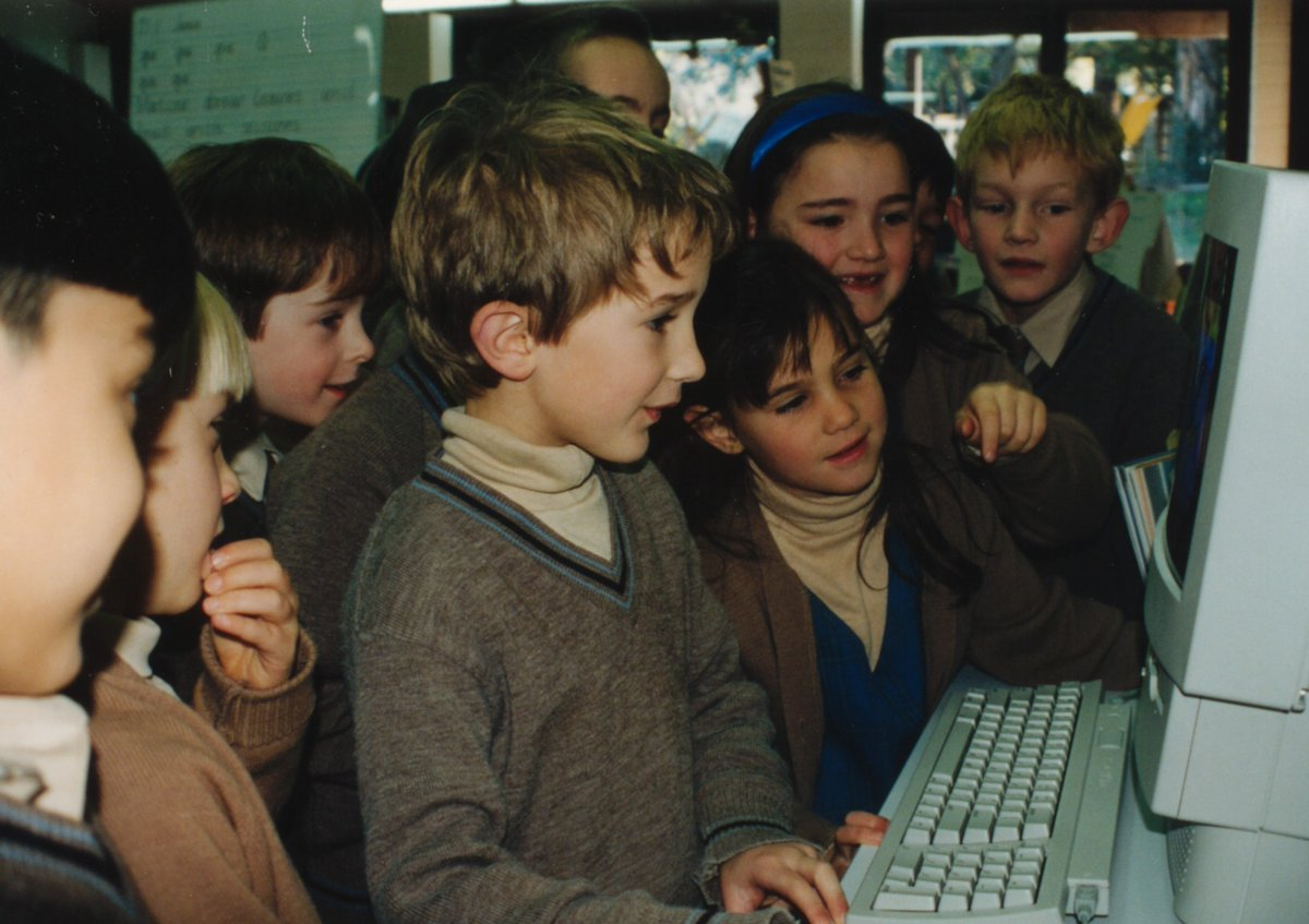 #TBT Who knew where we'd be this year? CGS has now pivoted to remote learning but here's a throwback to one of the first computers used at CGS!
