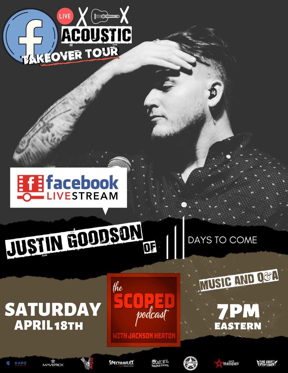 This is going to be awesome! Make sure you are following The Scoped Podcast on Facebook to check this out on 4/18 #MUSICLOVER #musicvideo pic.twitter.com/pOcIqSRo5L