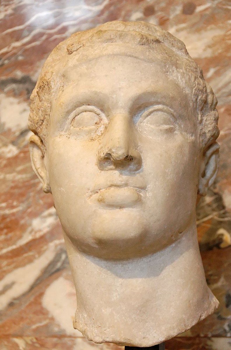 New podcast Ep this Fri: Late in his reign, the Egyptian pharaoh Ptolemy XII Auletes was only clinging to power on the strength of Roman loans, doled out by the new Triumvirate of Caesar, Pompey & Crassus. In 58 BC, he was forced into exile with his young daughter, Cleopatra.