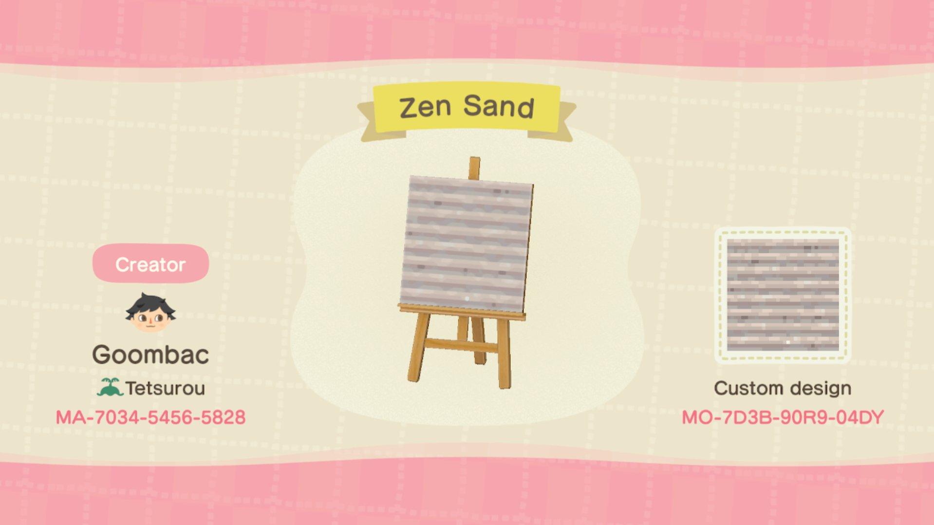Goombac On Twitter Made Some Custom Zen Garden Textures In Animal Crossing Animalcrossingnewhorizons Animalcrossing Acnh