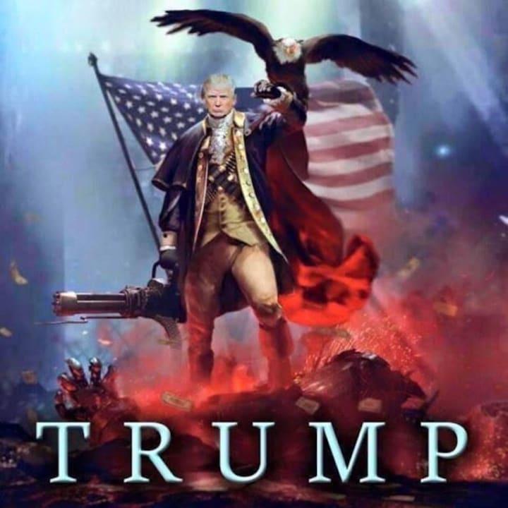 Now that Bernie's gone, I'm back on the #TRUMPTRAIN! pic.twitter.com/WdjRpBJlTi