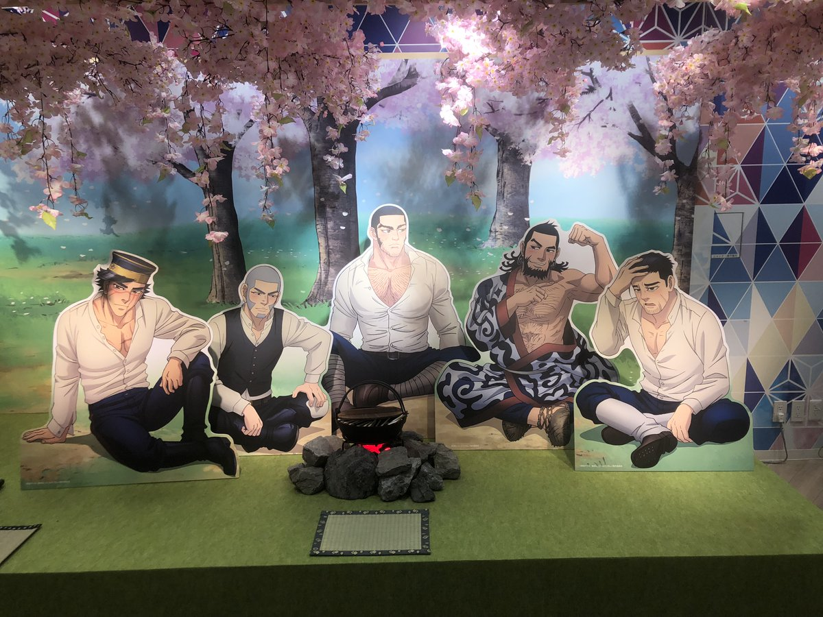 TVアニメ『ゴールデンカムイ』桜まつりPOP UP SHOP in 渋谷マルイの展示設営が完了しました。開催までいましばらくお待ちください。※店舗臨時休業につき、開催時期は現在未定です。詳細は下記HPにて随時お知らせします。#ゴールデンカムイ